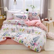 Комплект постельного белья Фламинго в тропиках (двуспальный-евро) (код товара: 48809)