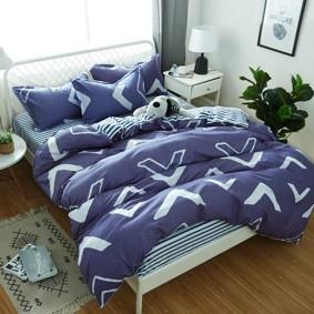 Комплект постельного белья Геометрический узор (двуспальный-евро) (код товара: 48829): купить в Berni