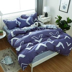 Комплект постельного белья Геометрический узор (полуторный) (код товара: 48828): купить в Berni