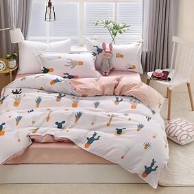 Комплект постельного белья Кактусы (двуспальный-евро) (код товара: 48803): купить в Berni