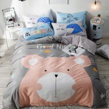 Комплект постельного белья Медвежонок (двуспальный-евро) (код товара: 48852)