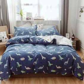 Комплект постельного белья Милые динозавры (двуспальный-евро) (код товара: 48837): купить в Berni