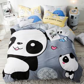Комплект постельного белья Милые панды (двуспальный-евро) (код товара: 48855): купить в Berni