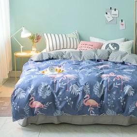 Комплект постельного белья Милый Фламинго (полуторный) (код товара: 48840): купить в Berni