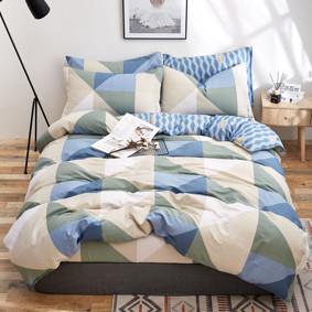Комплект постельного белья Треугольники (двуспальный-евро) (код товара: 48859): купить в Berni