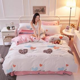 Комплект постельного белья Влюбленные сердца (двуспальный-евро) (код товара: 48862): купить в Berni