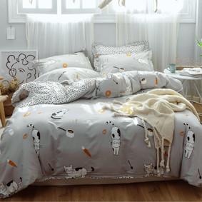 Комплект постельного белья Японские котики (двуспальный-евро) (код товара: 48839): купить в Berni