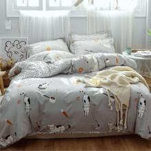 Комплект постельного белья Японские котики (полуторный) (код товара: 48838)