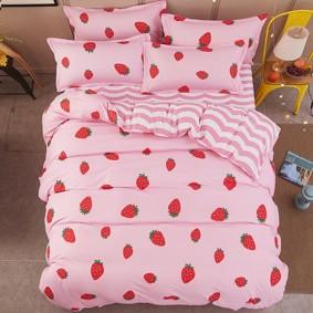 Уценка (дефекты)! Комплект постельного белья Клубника (полуторный) (код товара: 48896): купить в Berni