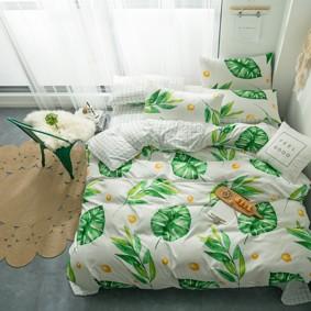 Уценка (дефекты)! Комплект постельного белья Листва (двуспальный-евро) (код товара: 48878): купить в Berni