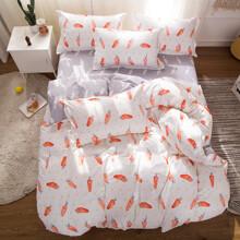 Уценка (дефекты)! Комплект постельного белья Морковка (двуспальный-евро) (код товара: 48886)