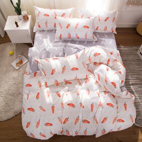 Уценка (дефекты)! Комплект постельного белья Морковка (двуспальный-евро) (код товара: 48886): купить в Berni