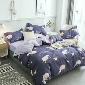 Уценка (дефекты)! Комплект постельного белья Овечки (двуспальный-евро) (код товара: 48891): купить в Berni