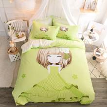 Комплект постельного белья Девочка и азалия (двуспальный-евро) (код товара: 48978)