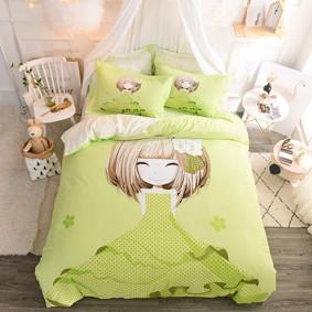Комплект постельного белья Девочка и азалия (двуспальный-евро) (код товара: 48978): купить в Berni