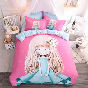 Комплект постельного белья Девочка и магнолия (двуспальный-евро) (код товара: 48976): купить в Berni