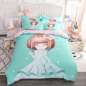 Комплект постельного белья Девочка и ромашка (двуспальный-евро) (код товара: 48980): купить в Berni