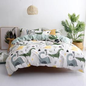 Комплект постельного белья Динозавры (двуспальный-евро) (код товара: 48966): купить в Berni