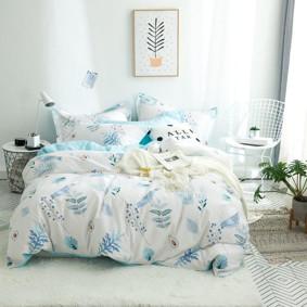 Комплект постельного белья Голубая птичка (двуспальный-евро) (код товара: 48974): купить в Berni