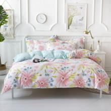 Комплект постельного белья Весенние цветы (двуспальный-евро) (код товара: 48986)