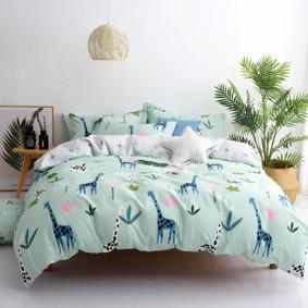 Комплект постельного белья Жирафы (двуспальный-евро) (код товара: 48968): купить в Berni