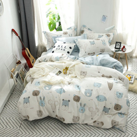 Комплект постельного белья Зверята (двуспальный-евро) (код товара: 48970): купить в Berni
