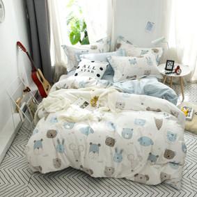 Комплект постельного белья Зверята (полуторный) (код товара: 48969): купить в Berni