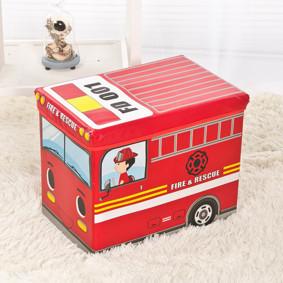 Пуф-ящик для игрушек Пожарная машина (код товара: 48993): купить в Berni