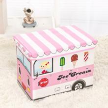 Пуф-ящик для игрушек Розовый фургон мороженщика (код товара: 48994)