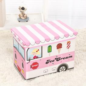 Пуф-ящик для игрушек Розовый фургон мороженщика (код товара: 48994): купить в Berni