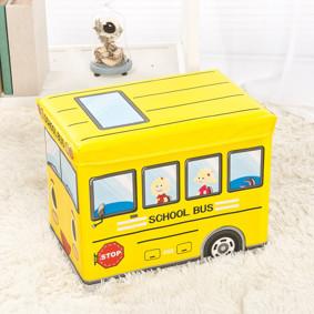 Пуф-ящик для игрушек Школьный автобус (код товара: 48990): купить в Berni