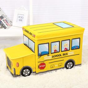 Пуф-ящик для игрушек Школьный автобус (код товара: 48997): купить в Berni