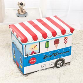 Пуф-ящик для игрушек Синий фургон мороженщика (код товара: 48991): купить в Berni