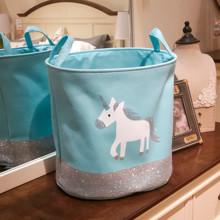 Корзина для игрушек, белья, хранения Пони, голубой оптом (код товара: 49031)