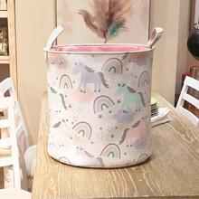 Корзина для игрушек, белья, хранения Пони и радуга оптом (код товара: 49033)