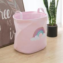 Корзина для игрушек, белья, хранения Радуга, розовый оптом (код товара: 49034)