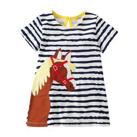 Платье для девочки Лошадка (код товара: 49076): купить в Berni