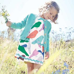Платье для девочки Птички (код товара: 49071): купить в Berni