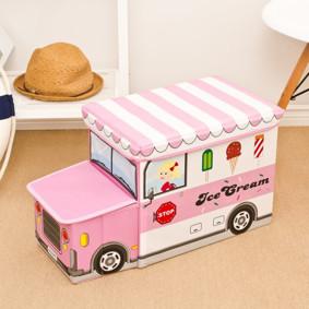 Пуф-ящик для игрушек Розовый фургон мороженщика (код товара: 49002): купить в Berni