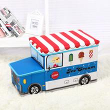 Пуф-ящик для игрушек Синий фургон мороженщика (код товара: 49001)
