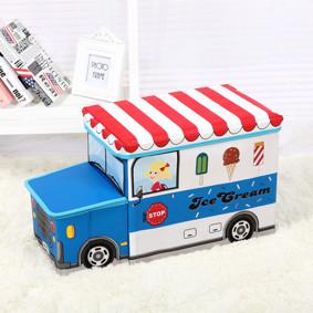 Пуф-ящик для игрушек Синий фургон мороженщика (код товара: 49001): купить в Berni