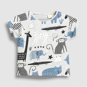 Детская футболка Африканские животные (код товара: 49107): купить в Berni