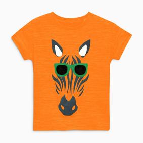 Детская футболка Зебра в очках (код товара: 49110): купить в Berni