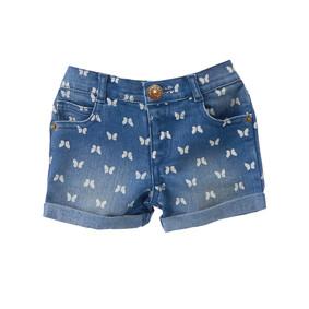 Джинсовые шорты для девочки Бабочки (код товара: 49198): купить в Berni