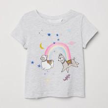 Футболка для девочки Ламы и радуга (код товара: 49118)