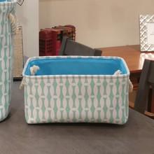 Корзина для игрушек, белья, хранения Голубой бамбук оптом (код товара: 49138)