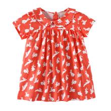 Платье для девочки Белые зайчики (код товара: 49179)