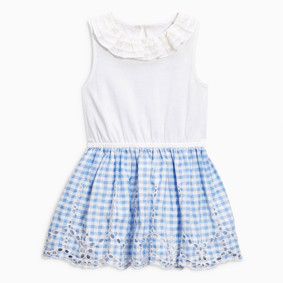 Платье для девочки Мелкая клеточка оптом (код товара: 49183): купить в Berni