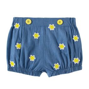Джинсовые шорты для девочки Цветочки оптом (код товара: 49200): купить в Berni