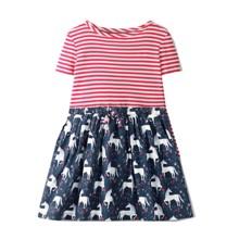 Платье для девочки Белые единороги (код товара: 49221)
